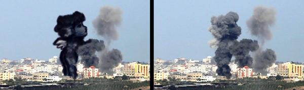 Tawfik Gebreel Gaza airstrike drawings 5