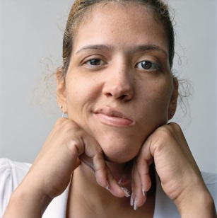 Young woman with long fingernails, 2008